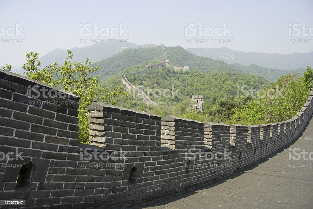 View from The Great Wall royalty-free stock photo