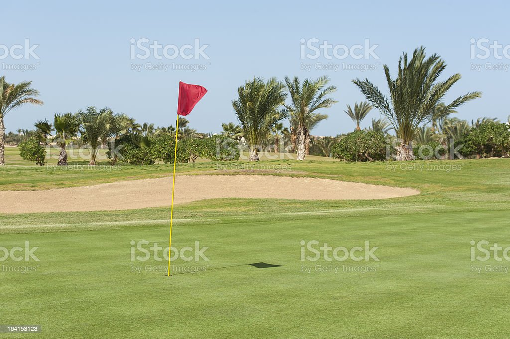View from the green on a golf course royalty-free stock photo