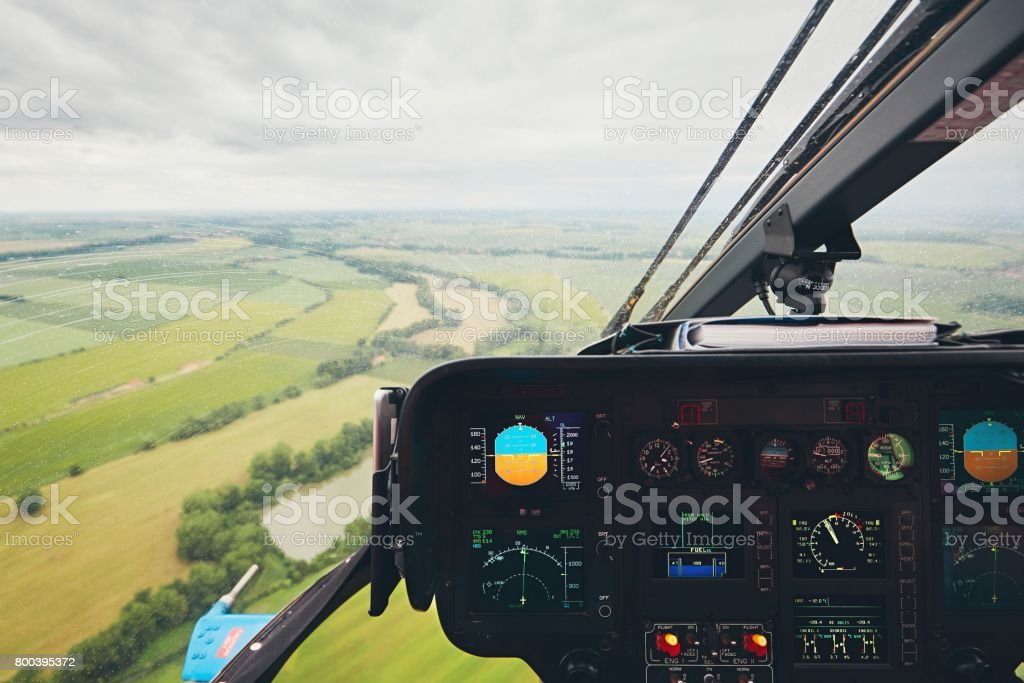 View from the helicopter stock photo