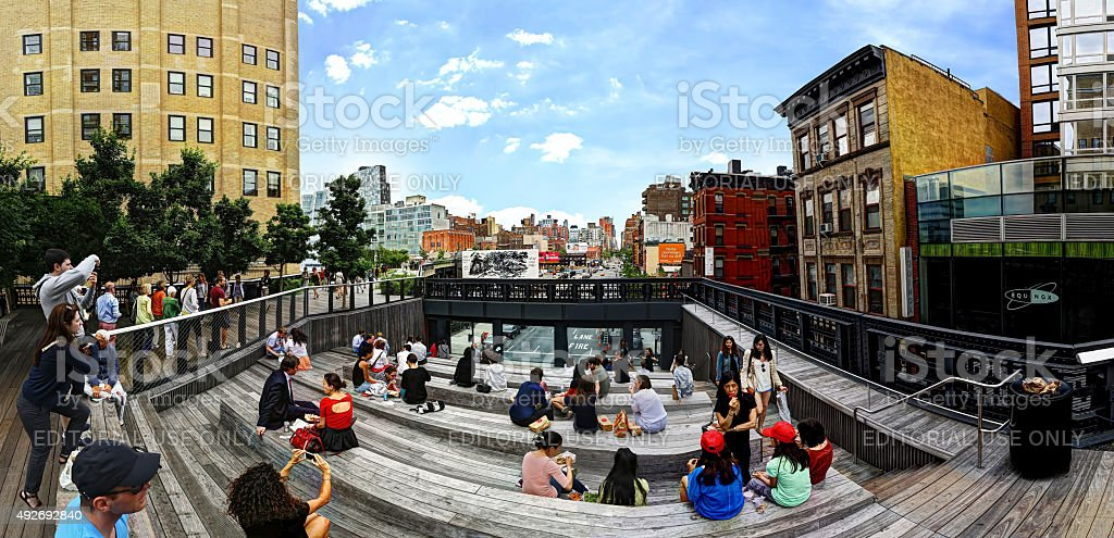 View from the High Line, NYC stock photo
