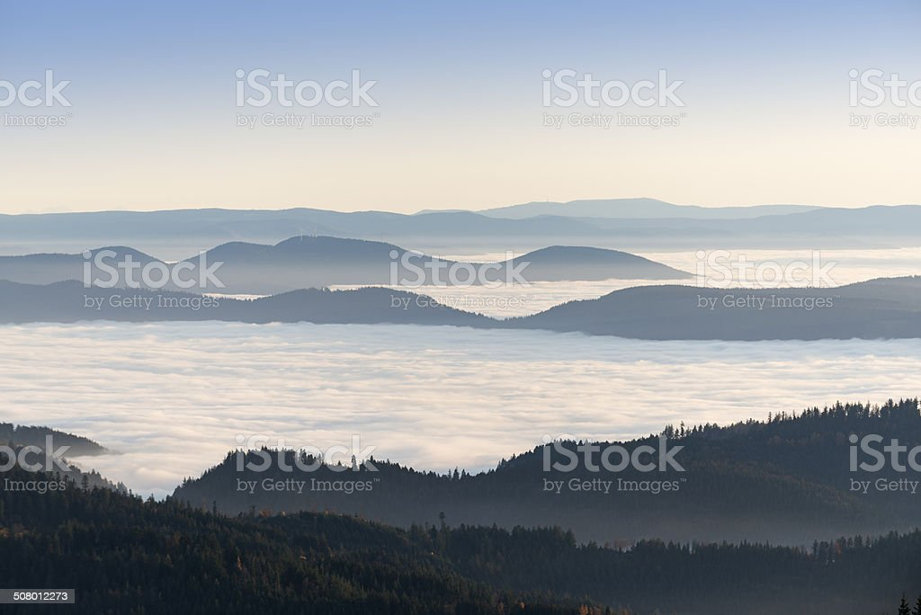 View from the Hornisgrinde / Black Forest stock photo