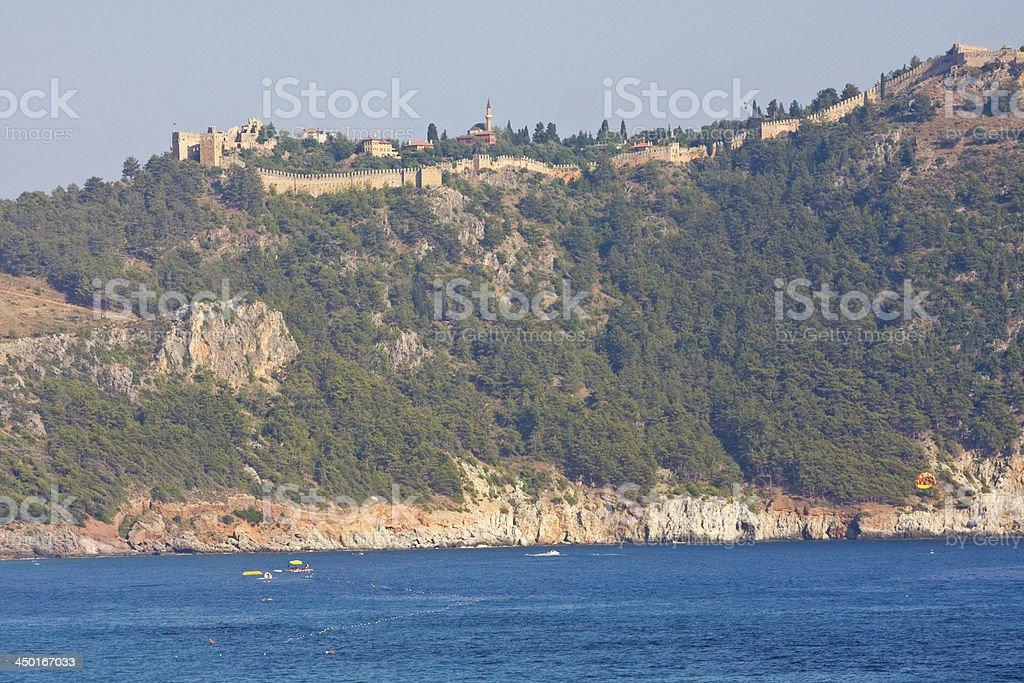 View from the Inner Castle (Ic Kale), Alanya, Turkey stock photo
