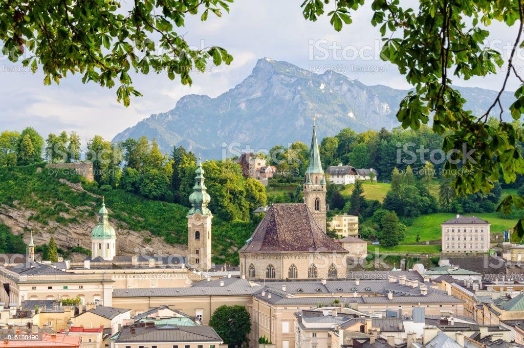 View from the Kapuzinerkloster - Salzburg stock photo