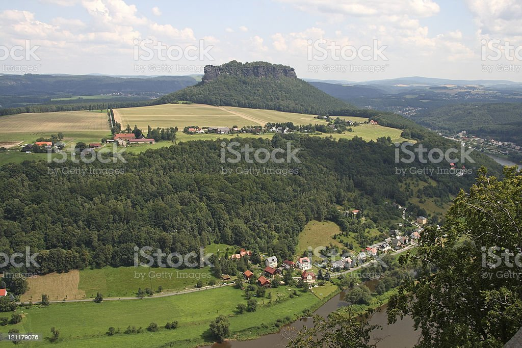 View from the K?nigstein Fortress stock photo