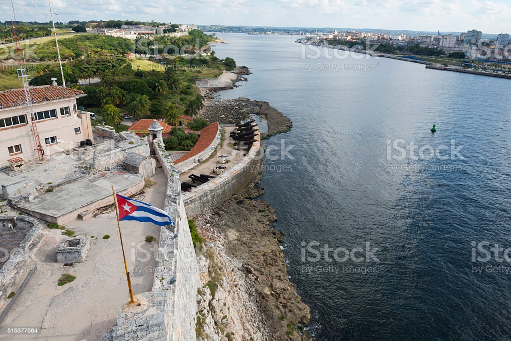 View from the lighthouse in Havana, Cuba stock photo