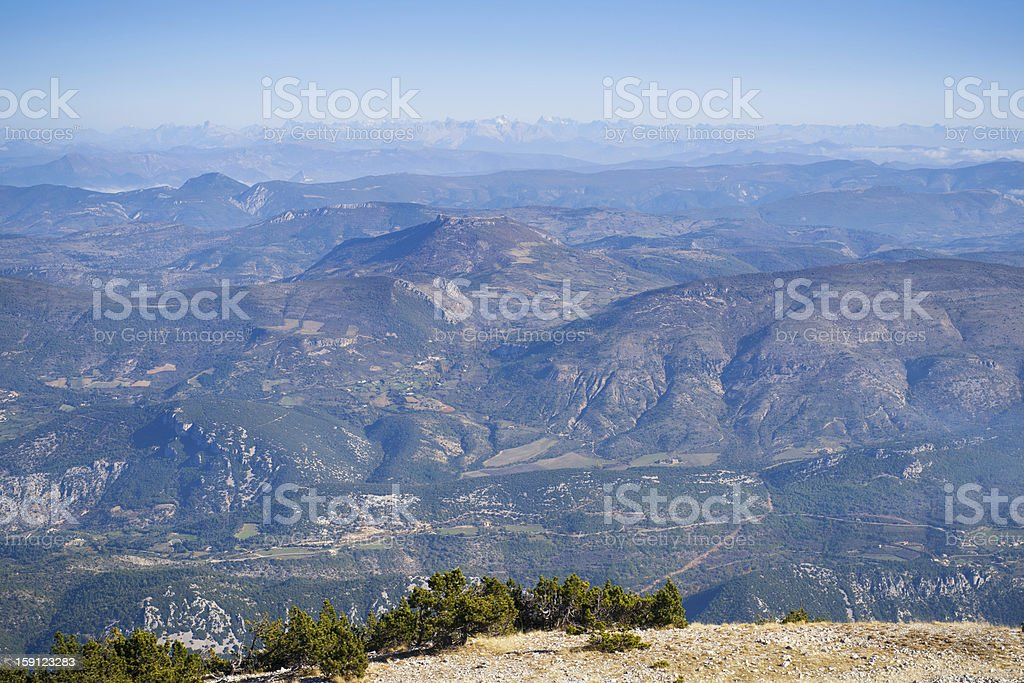 View from the Mont Ventoux royalty-free stock photo