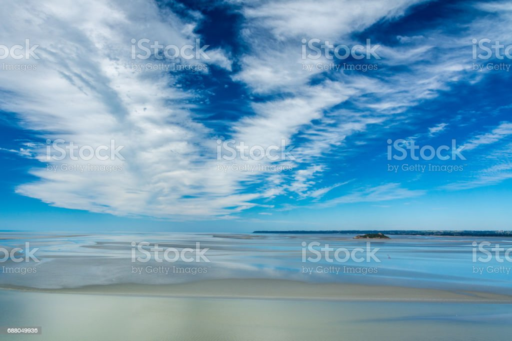 View from the Mont-Saint-Michel, France stock photo