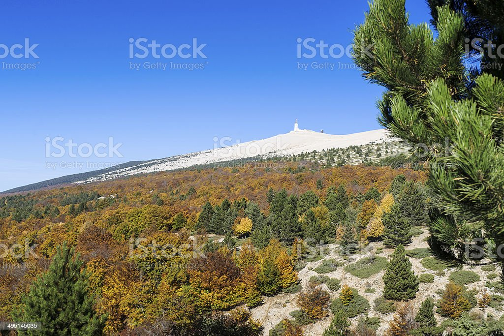 View from the Mount Ventoux, Vaucluse, France stock photo