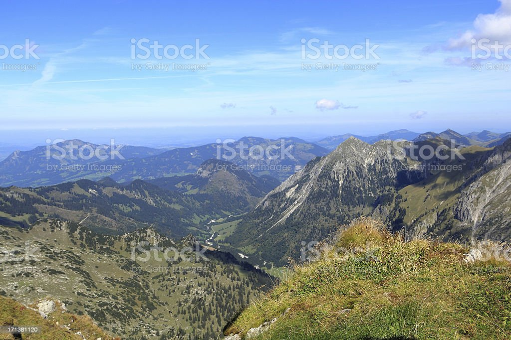 View from the Nebelhorn royalty-free stock photo