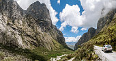 View From The Paron Valley In The Peruvian Andes