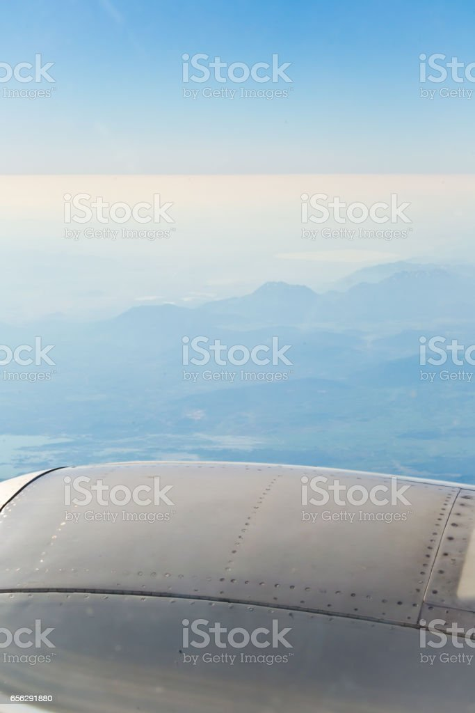 View from the plane. stock photo