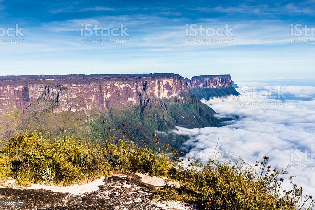 View from the plateau Roraima to Gran Sabana region stock photo