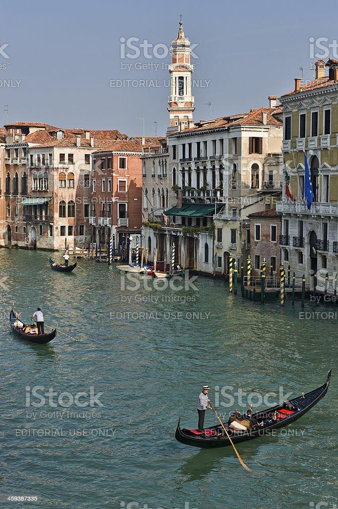 View from the Railto Bridge in Venice royalty-free stock photo