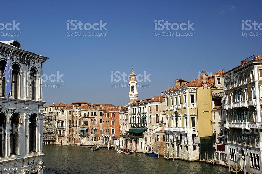 View from The Rialto Bridge Venice Italy royalty-free stock photo