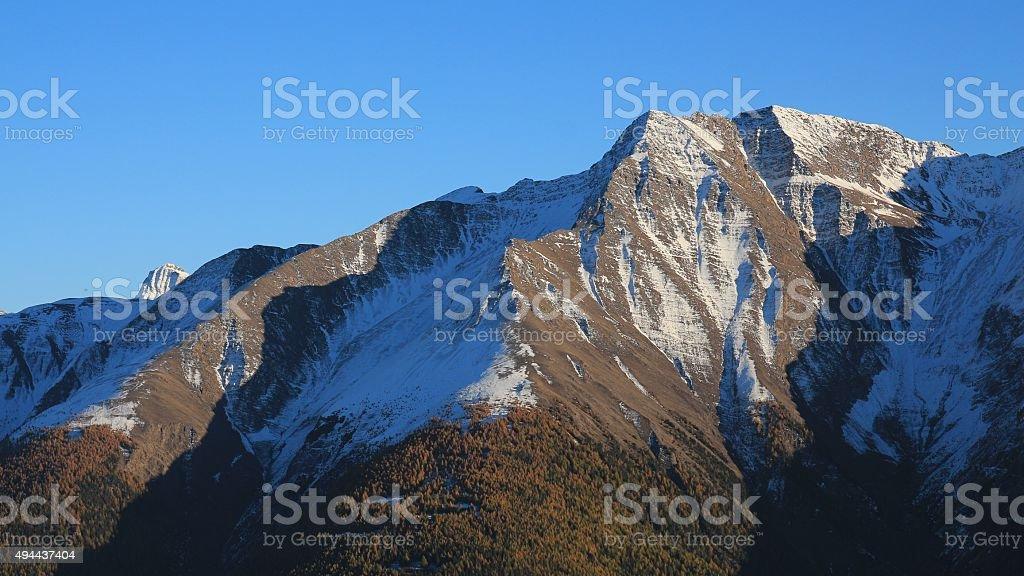 View from the Riederalp, Mt Battlihorn stock photo