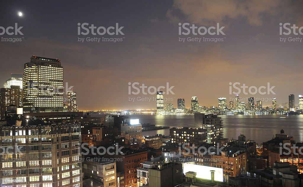 View from the roof in Manhattan royalty-free stock photo