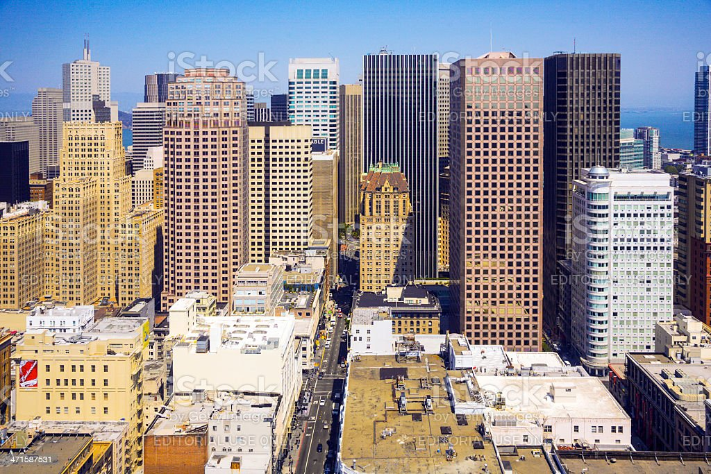 view from the rooftop to  San Francisco royalty-free stock photo
