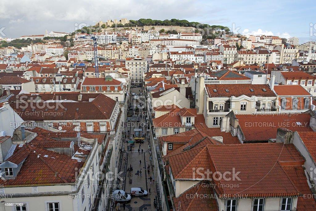 View from The Santa Justa Elevator, Lisbon stock photo