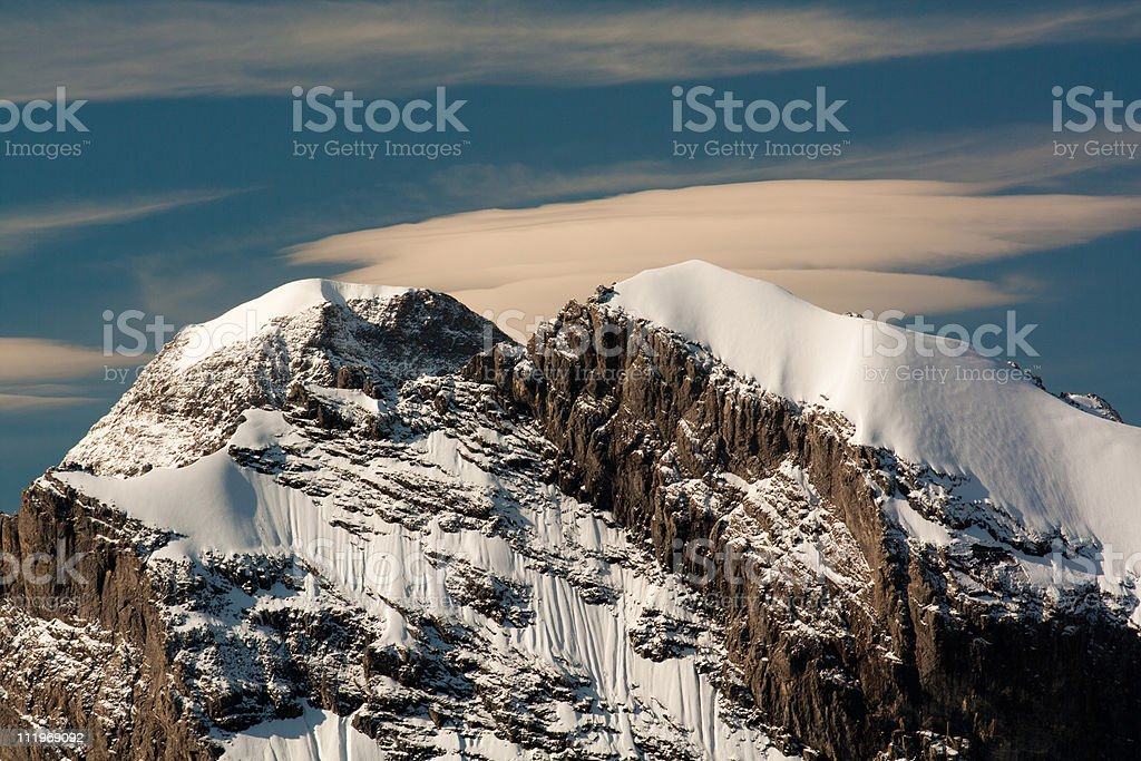 View from the Schilthorn mountain royalty-free stock photo