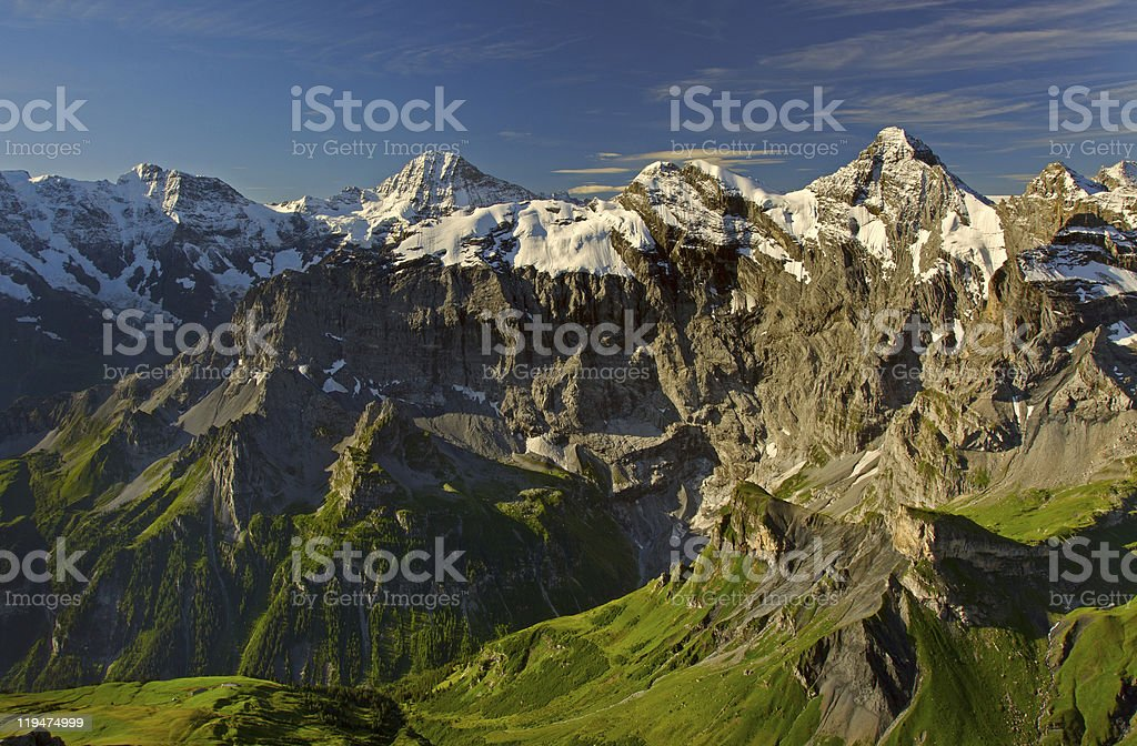 View from the Schilthorn mountain stock photo
