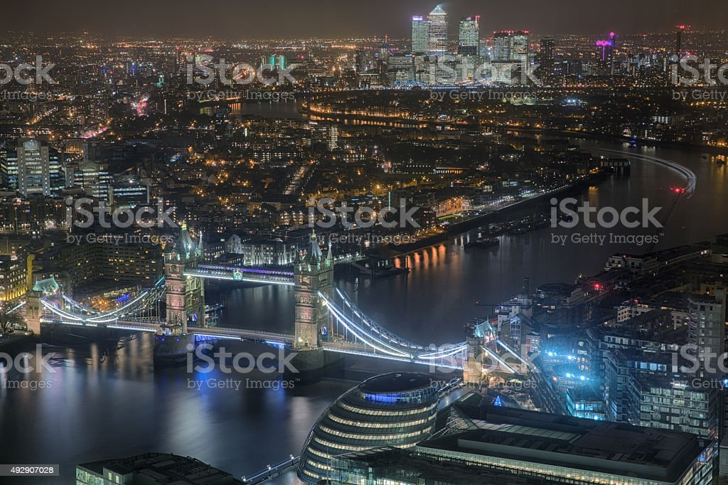 View From the Shard stock photo