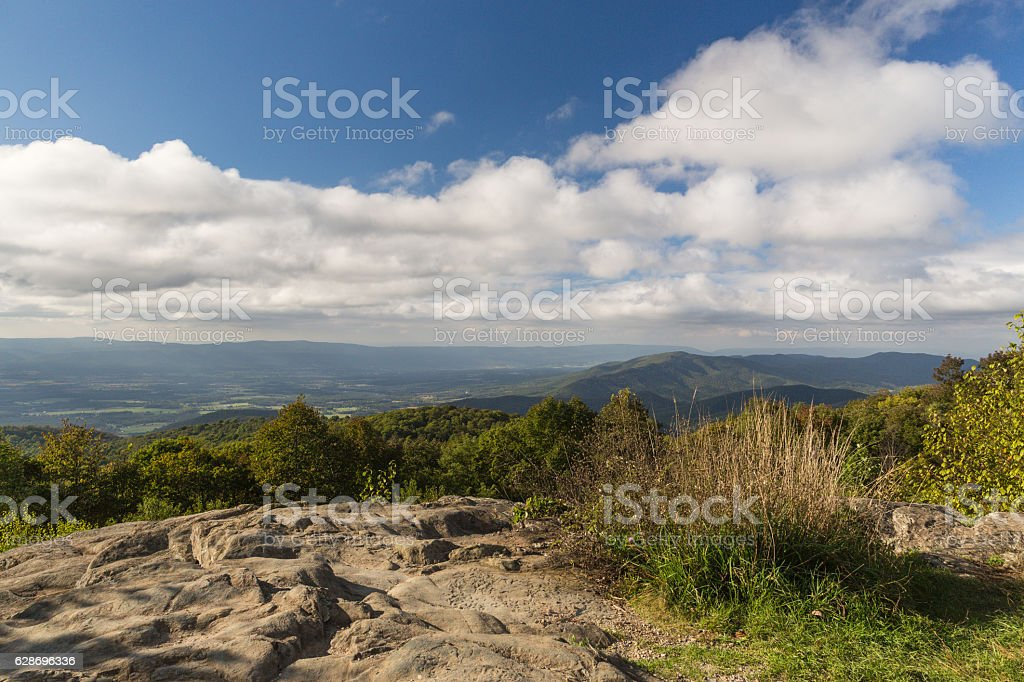 View from the Skyline Drive in Virginia stock photo