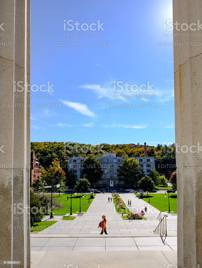 View From The State House, Vermont, United States stock photo
