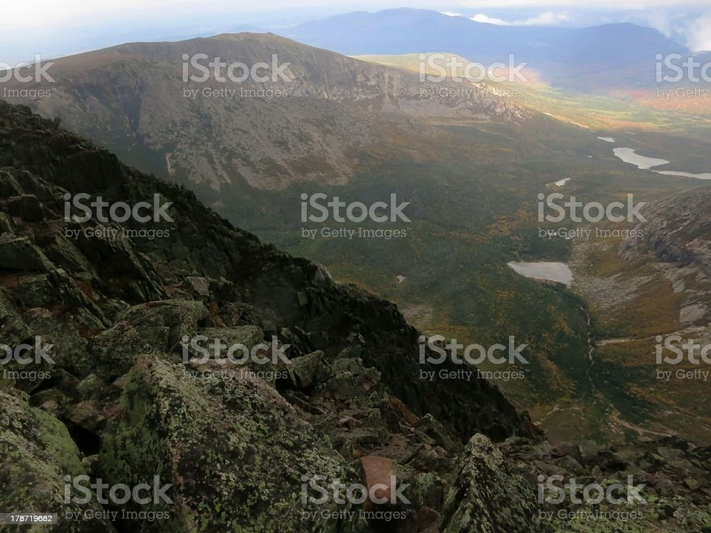 View from the summit of Mt. Katahdin stock photo