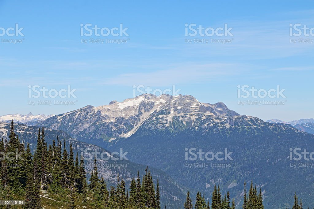 View from the Summit of Whistler Mountain, Whistler, British Columbia. stock photo