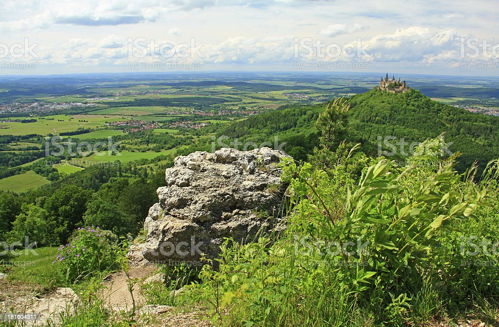 View from the Swabian Alb, Germany stock photo