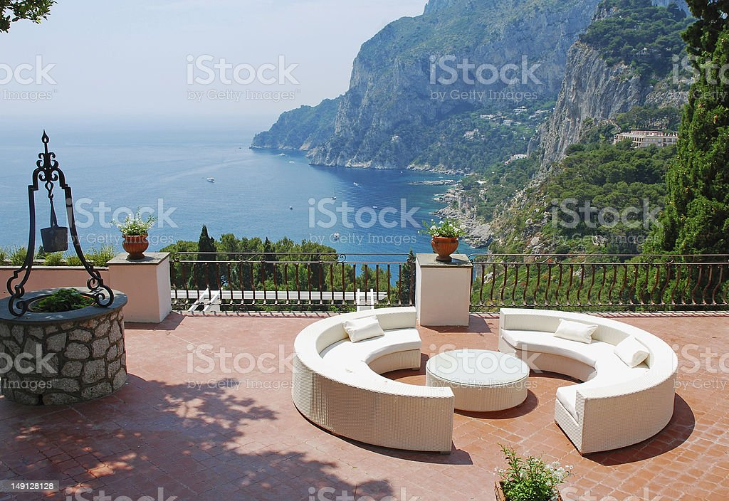 View from the terrace of villa royalty-free stock photo