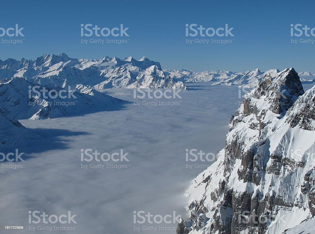 View from the Titlis royalty-free stock photo