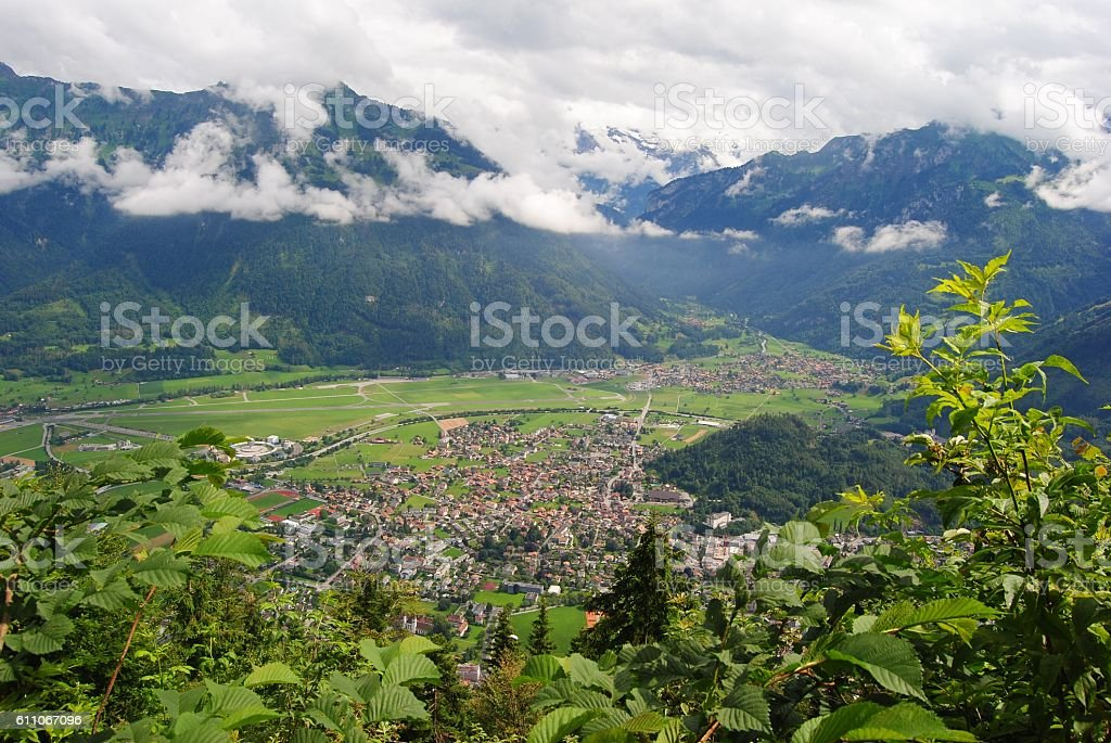 View from the top of Harder Kulm. stock photo
