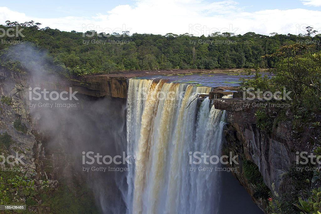 View from the top of Kaieteur falls Guyana South America stock photo