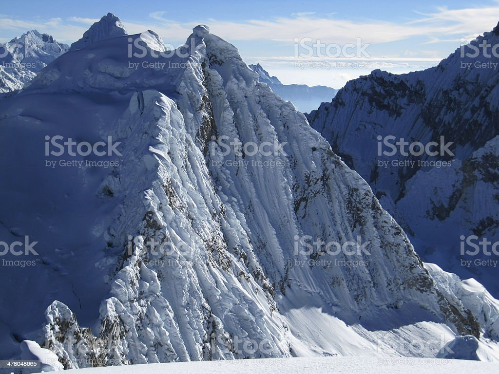 view from the top of Pisco mountain, Peru stock photo