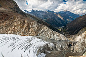 View from the top of Pitztal glacier