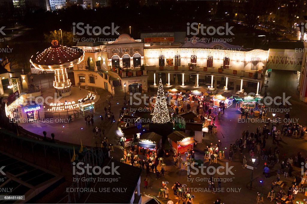 View from the top of Prater amusement park stock photo