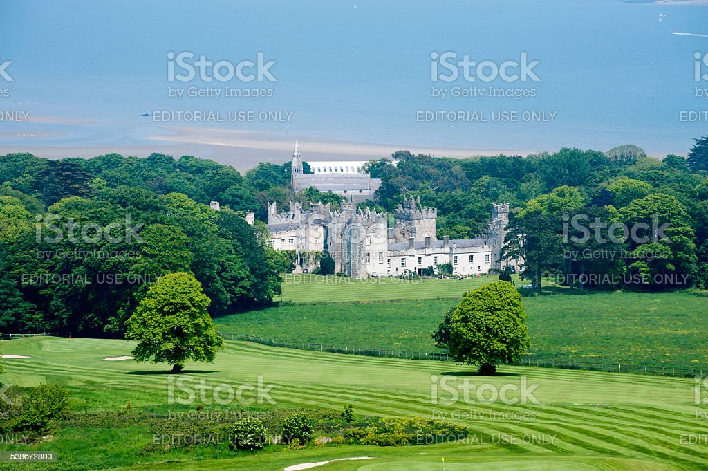 View from the top of the hill on Deer castle stock photo