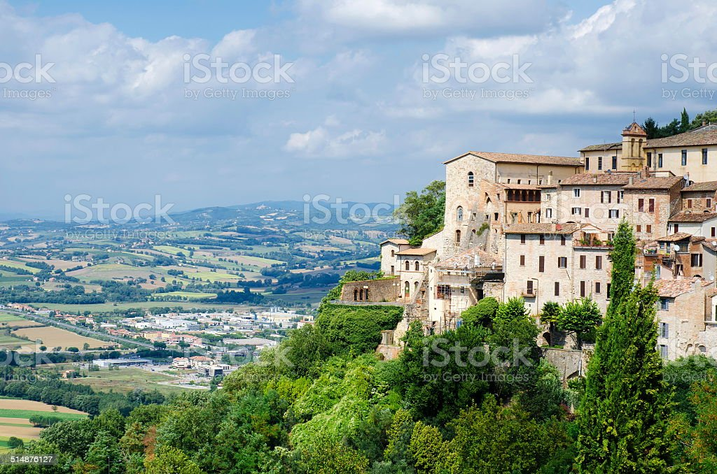 View from the town of Orvieto stock photo