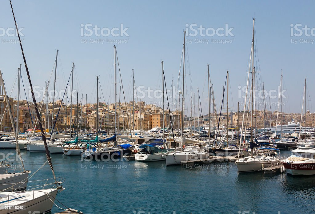 View from the Vittoriosa stock photo