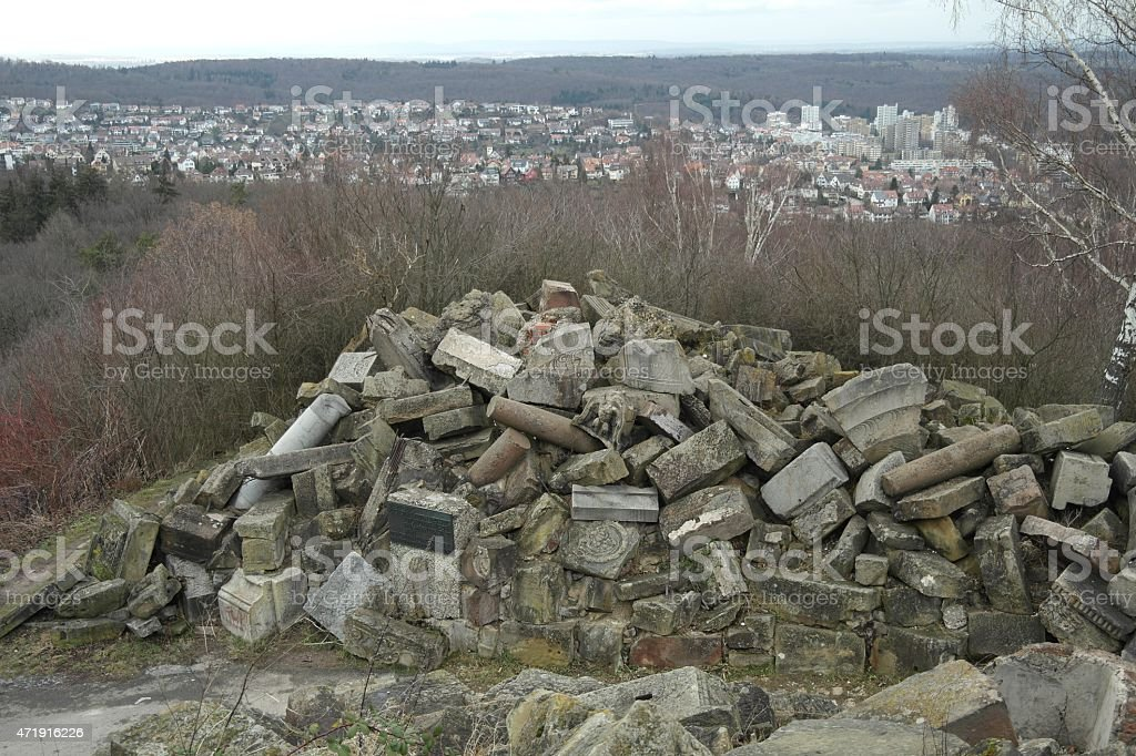 View from the war memorial Birkenkopf in Stuttgart stock photo