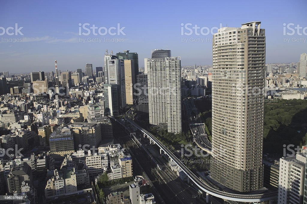 View from the World Trade Center, Tokyo stock photo