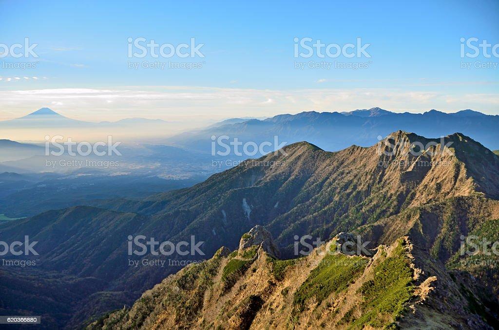 view from the Yatsugatake stock photo