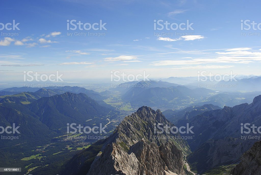 View from the Zugspitze stock photo