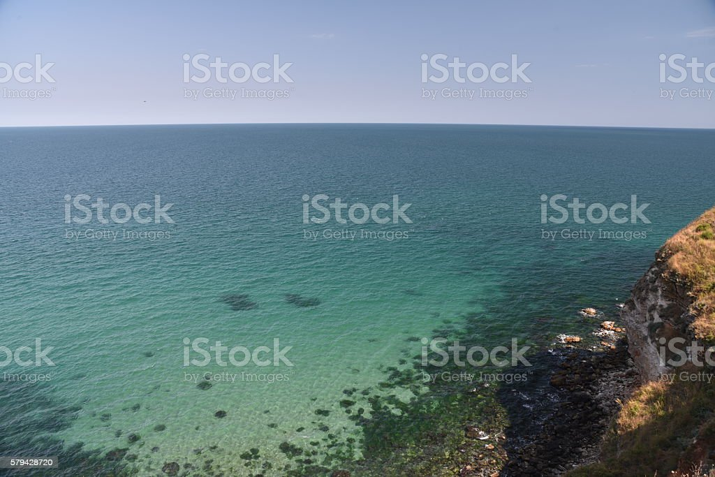 View from top, Cape Kaliakra stock photo