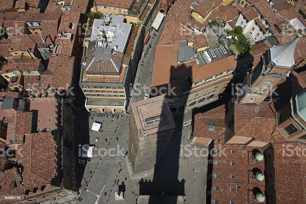 View from Torre Asinelli stock photo