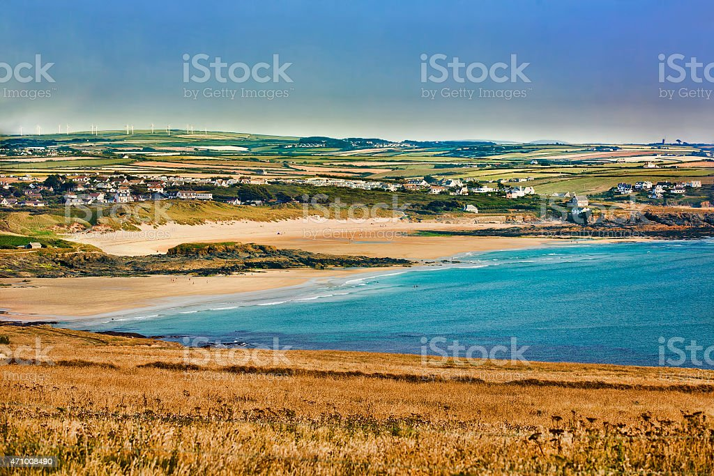 View from Trevose Head, Cornwall stock photo