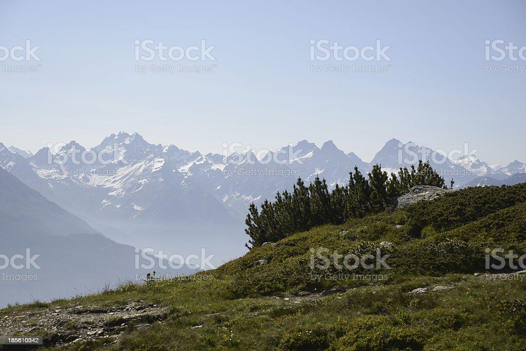 View from Venet, Austria stock photo