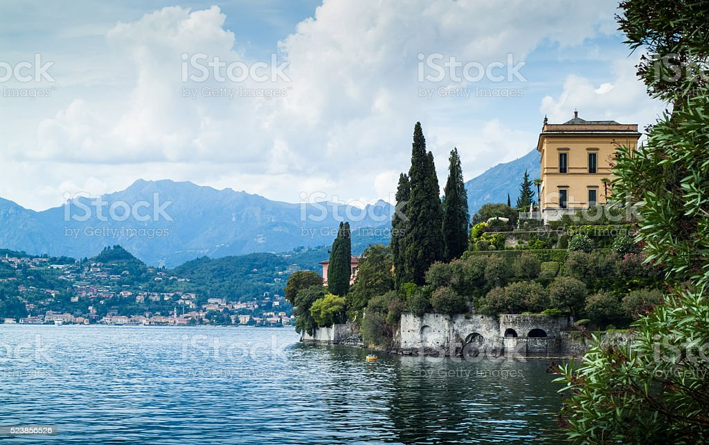 View from Villa Monastero stock photo