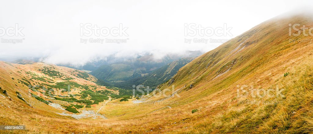 view from Volovec at Tatras stock photo